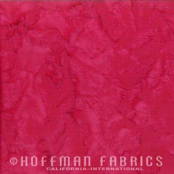 1895-208 Strawberry Daiquiri | 1895 Watercolor Batik Blender | Hoffman Fabrics