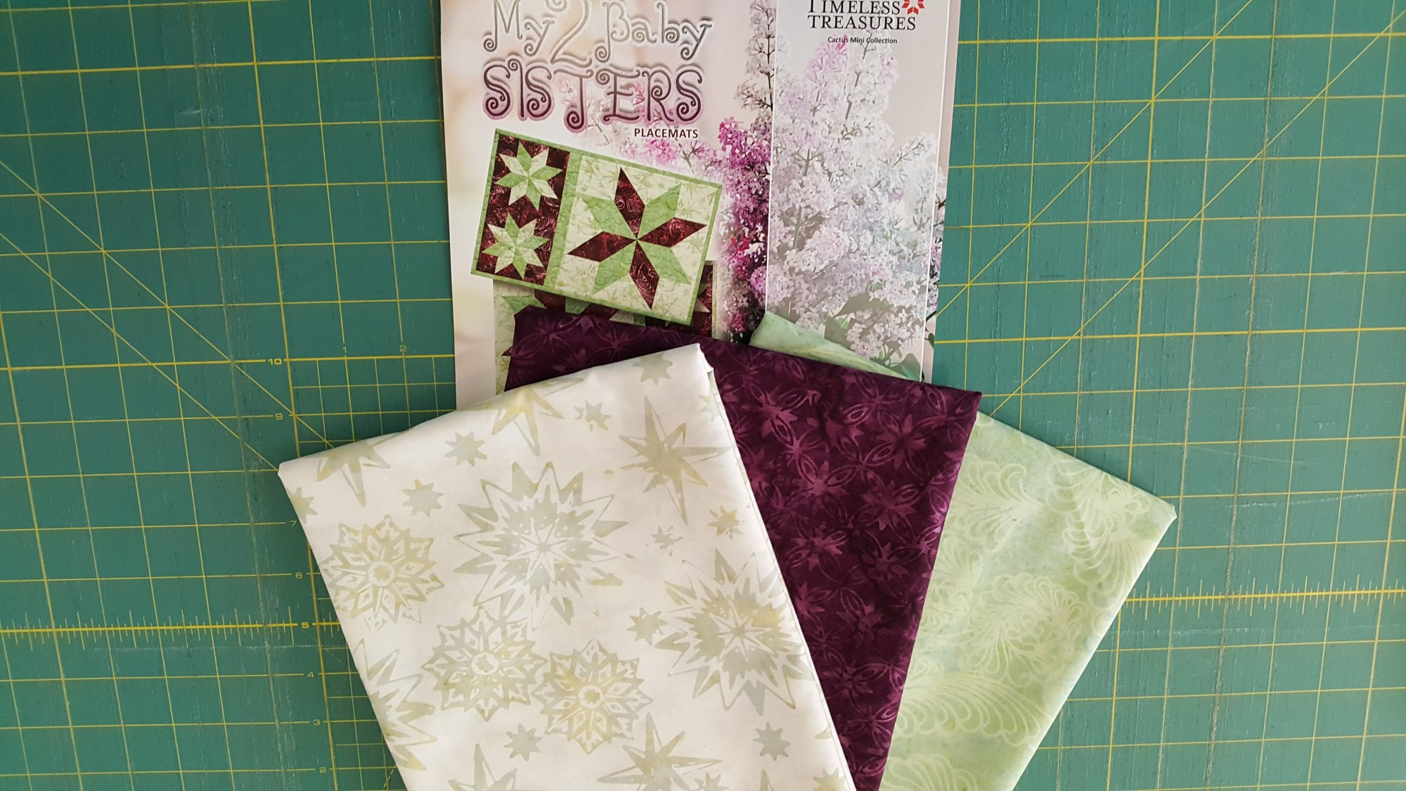 My 2 Baby Sisters Placemats Fabric Kit - A Judy Niemeyer Collection Fabric Set