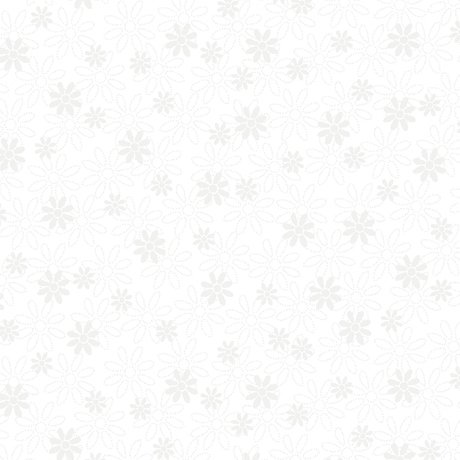 1649-21516-Z White - Stencil Floral Quilting Illusions by Quilting Treasures
