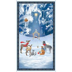 Woodland Dream Nativity Panel 26473 -B 24 by Sarah Summers for Quilting Treasures