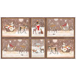 Woodland Dream Winter Vignette Patches 26474-A 24 by Sarah Summers for Quilting Treasures