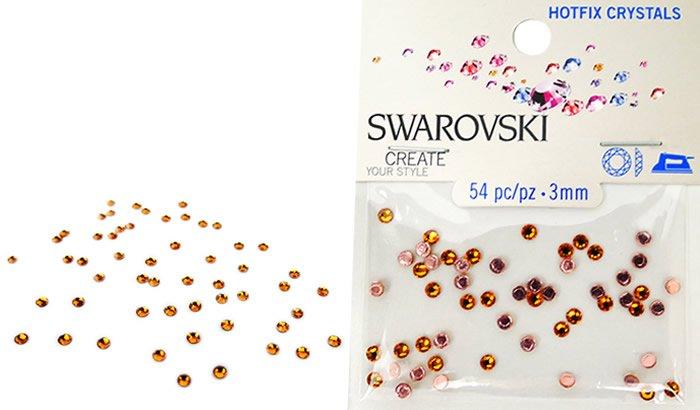 Swarovski Hotfix Crystals - Topaz #5017 - 3mm