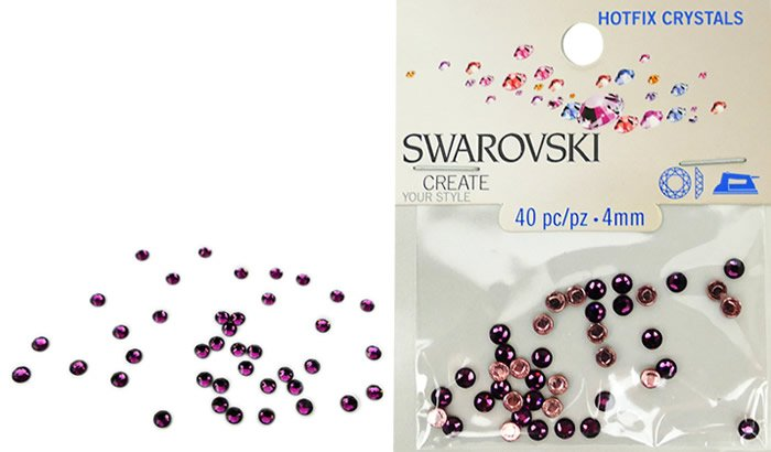 Swarovski Hotfix Crystals - Amethyst #5018 - 4mm