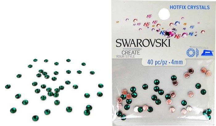 Swarovski Hotfix Crystals - Emerald #5024 - 4mm