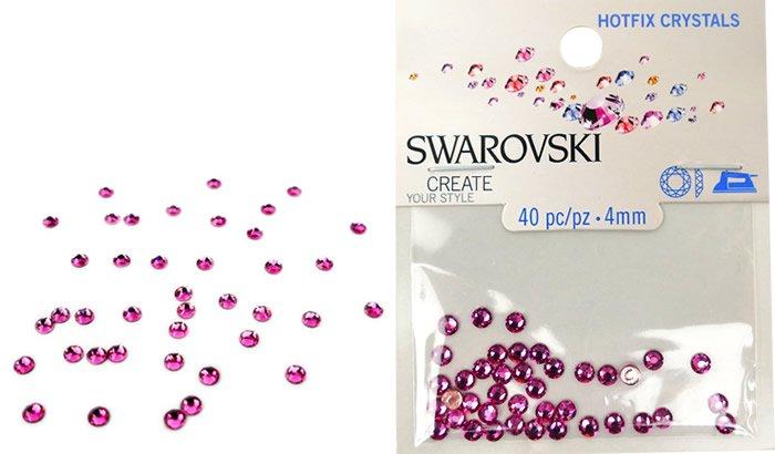 Swarovski Hotfix Crystals - Rose #5031 - 4mm