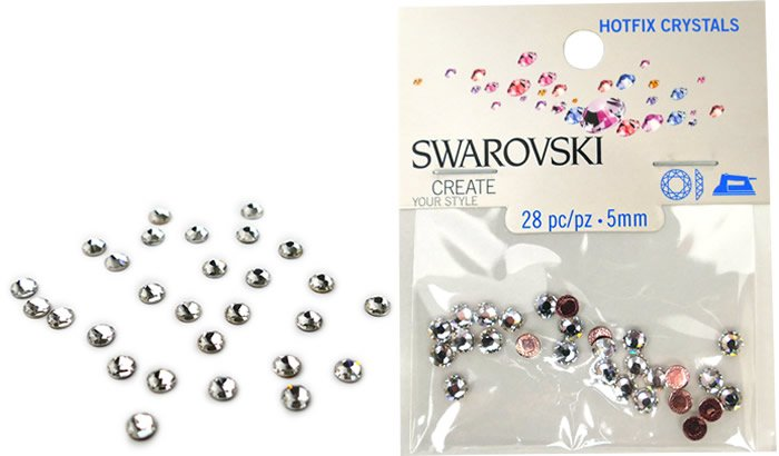 Swarovski Hotfix Crystals - #5034 Crystal - 5mm
