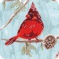 AWHM-17375-277 Winter Cardinals by Lynnea Washburn from Winter White 3 by Robert Kaufman Fabrics