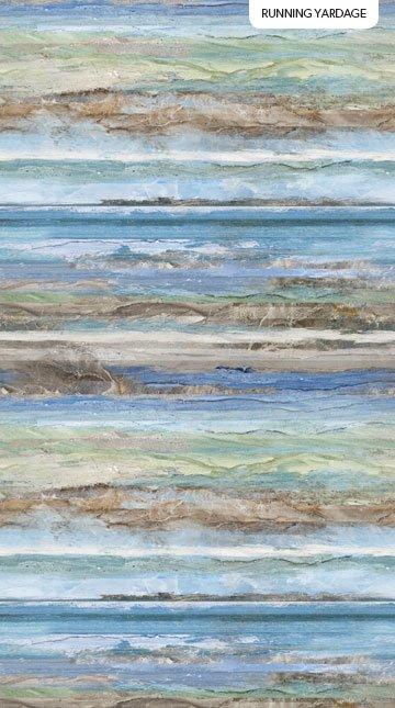 DP23361-42 Blue Multi - Swept Away Stripe Digital Print | Deborah Edwards & Melanie Samra for Northcott Fabrics