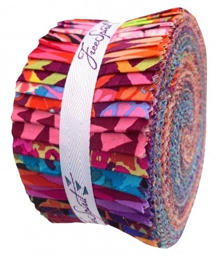 FB3.NIGHT.DRGP Kaffe Fassett Collective  Night -  2.5 inch Design Roll by Free Spirit Fabrics