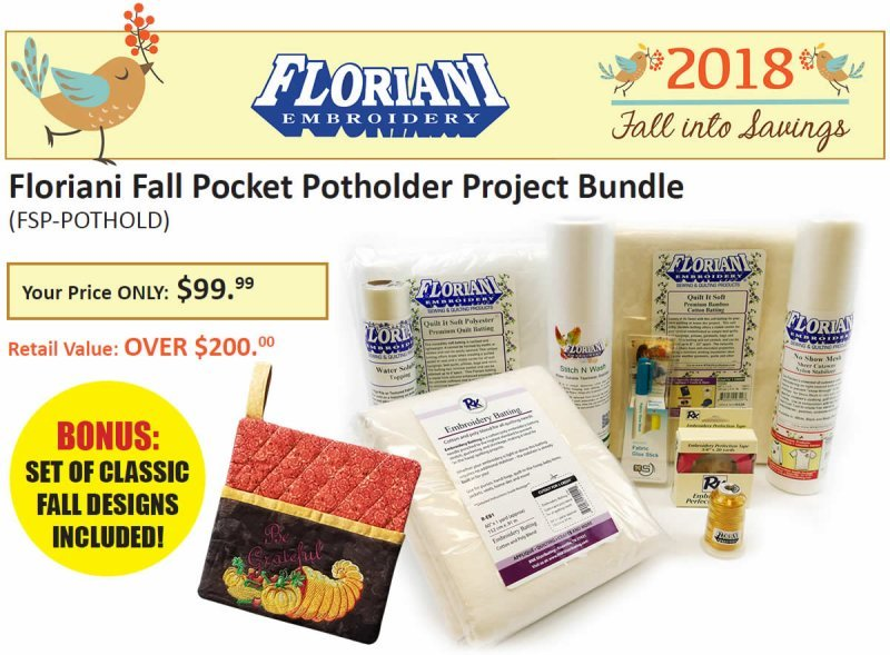 Fall Pocket Potholder Project - Floriani