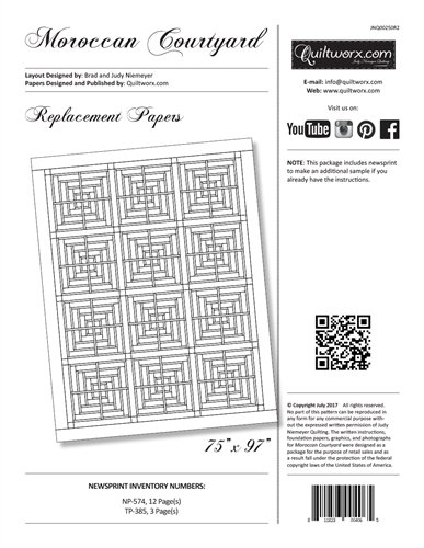 Moroccan Courtyards Replacement Papers JNQ-00250R2 by Judy Niemeyer