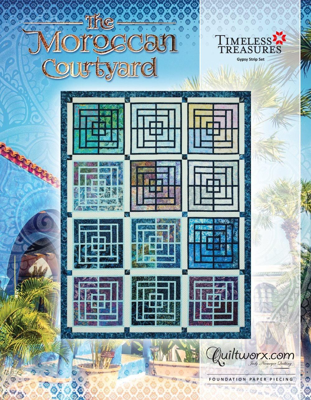 Moroccan Courtyard JNQ-00250P2 by Quiltworx Judy Niemeyer Quilting