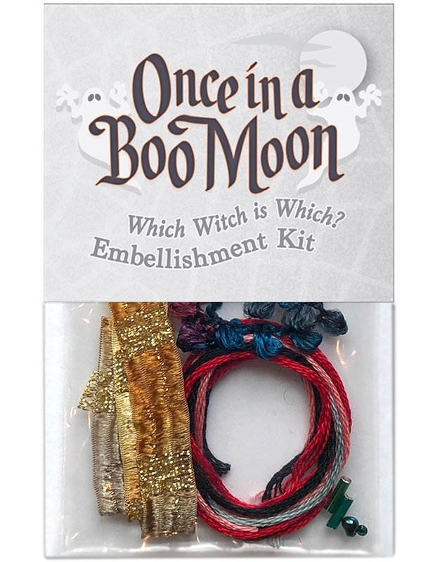OBM12 Which Witch is Which? - Embellishment Kit Once in a Boo Moon | McKenna Ryan