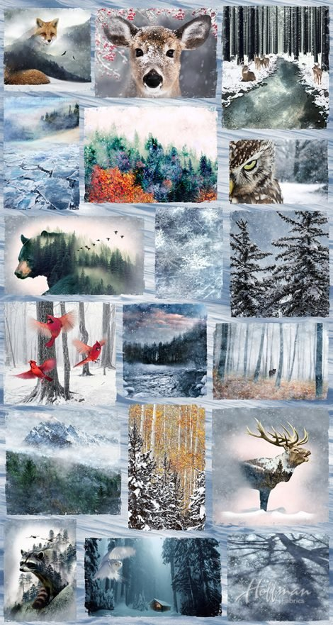 Call of the Wild - Hoffman Digital Print Panel - P4354-113-Frost
