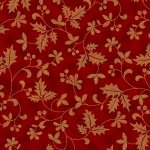 R7671-78G Scarlet/Gold Holly - Poised Poinsettia Collection by Hoffman Fabrics