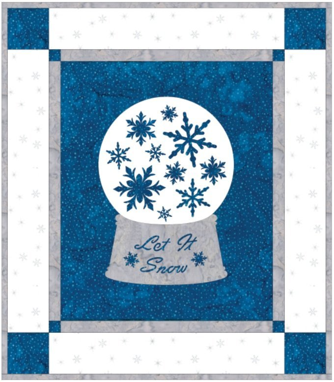 SHAN-KSSS11 C MUL - HOLIDAY WISHES - SNOWFLAKES QUILT KIT BY SHANIA SUNGA