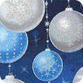 SRKM-17327-80 Evening Ornaments by Portfolio Select Limited from Winter's Grandeur 6 by Robert Kaufman Fabrics