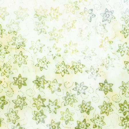 B6170 Mist - Daffodil Tonga Batik Chop by Timeless Treasures Jade Collection by Judy and Judel Niemeyer