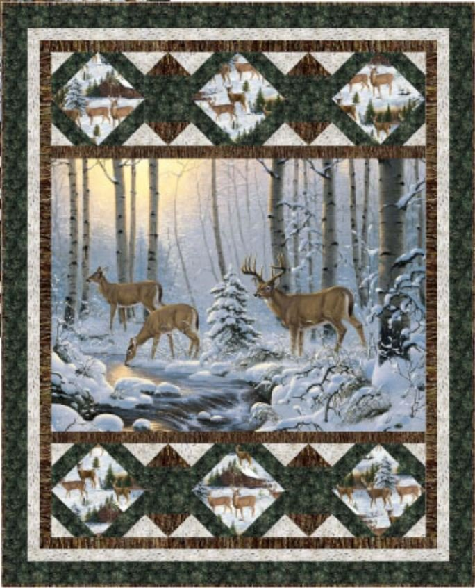 Winter Refuge Wall Fabric Kit w/Pattern PTN2503 by Pine Tree Country Quilts