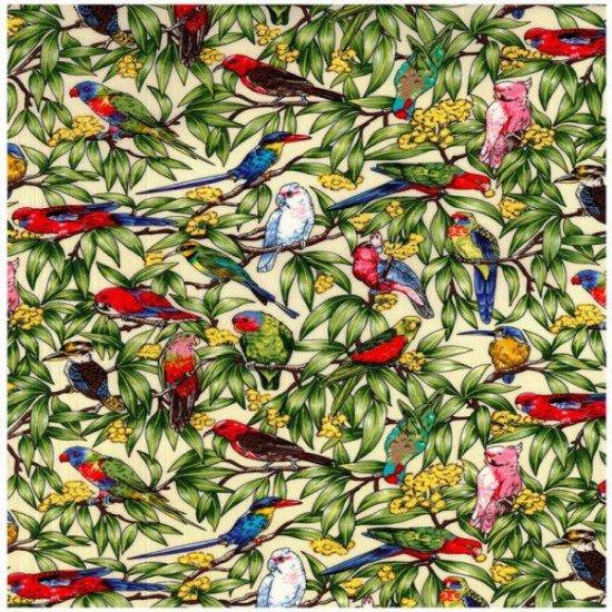 Birds In Paradise 10070 Ivory/Cream