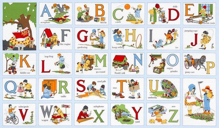 My ABC Book Vintage Panel 16624-200