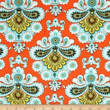 Amy Butler Belle French Wallpaper in Orange