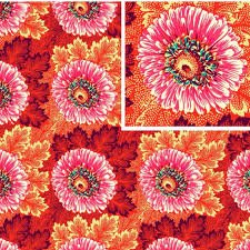 Amy Butler Hapi Sunflowers in Coral