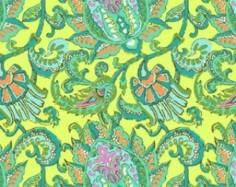 Amy Butler Soul Blossom Paisley in Lemon