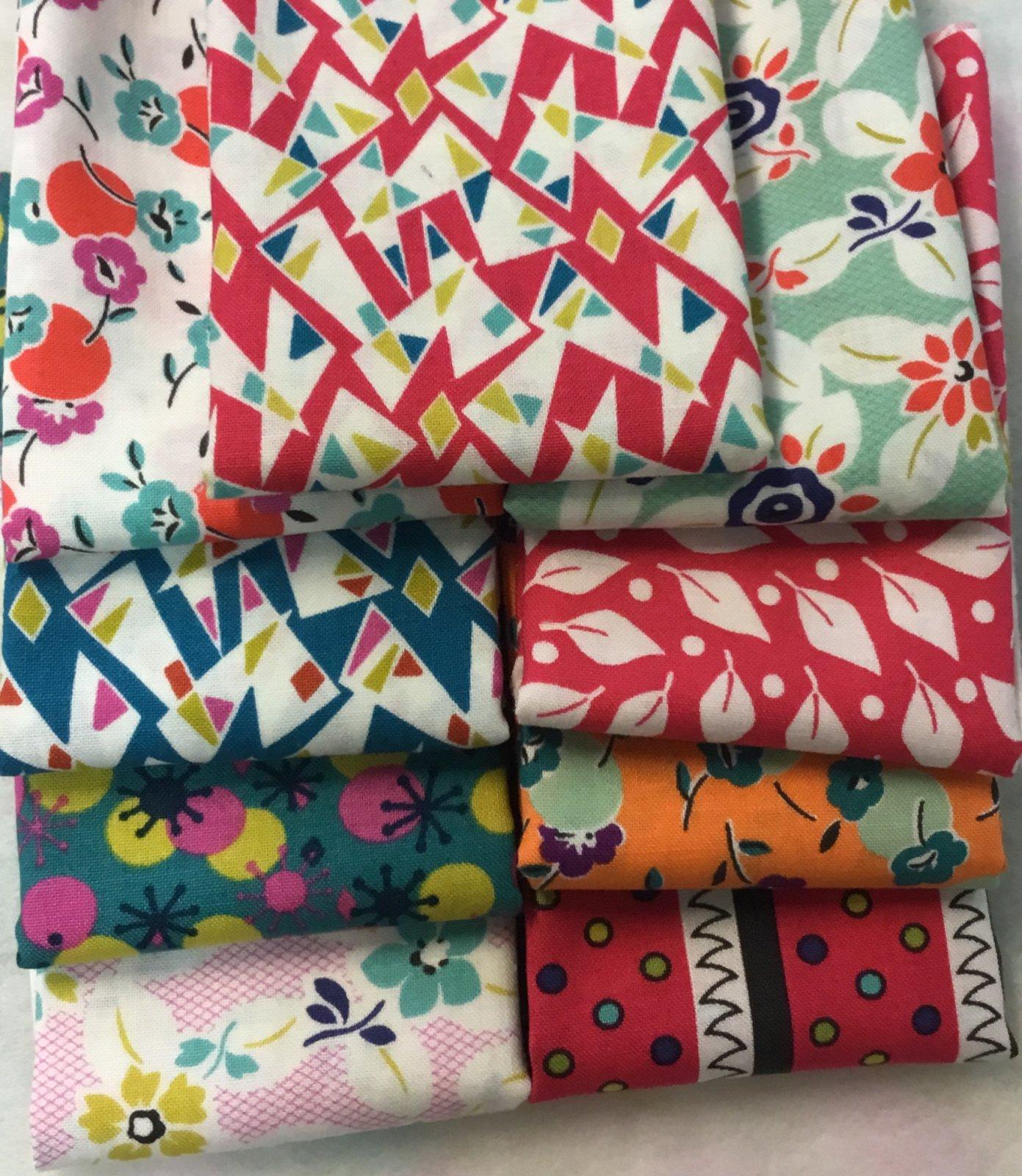 Beach Road Fabric Pack - FQ x 9