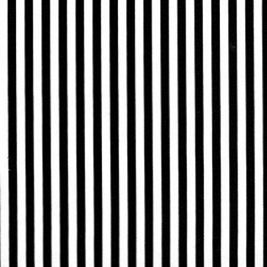 Black & White Stripe - 1/8th wide 85190 S