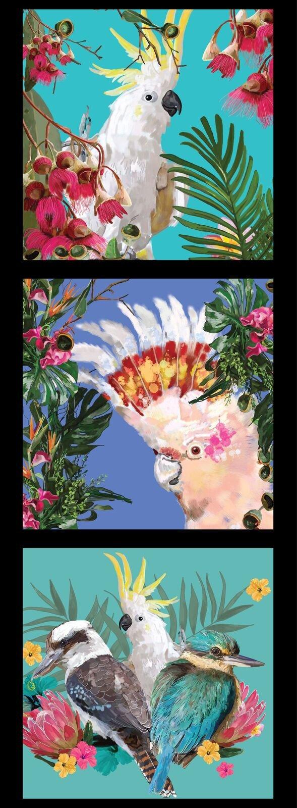 Botanical Birds panel - DV3476