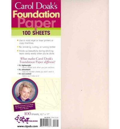 Carol Doak's Foundation Paper - 100 sheets