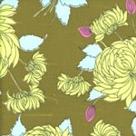 amy Butler Belle Chrysanthemum in Olive