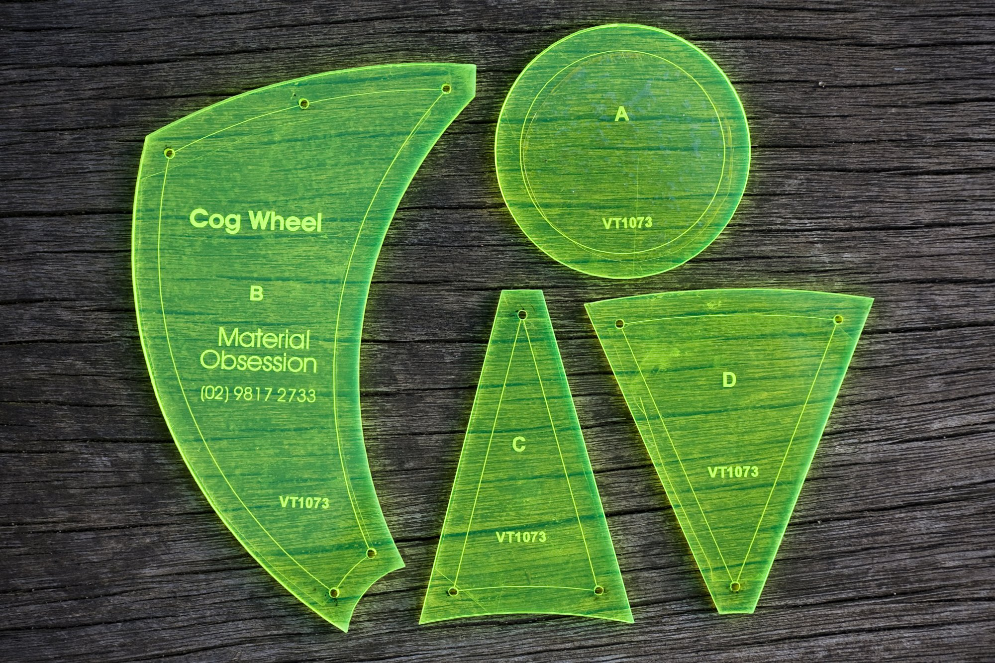 Cog Wheel Template - VT1073
