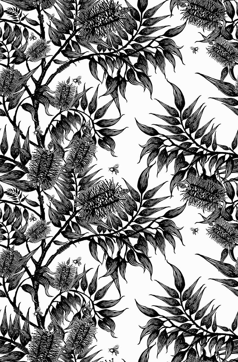 Bush Beauty Bees in the Bottlebrush - 6067D