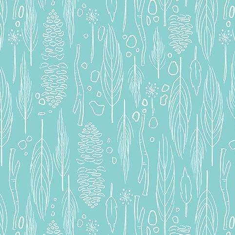 Wee Wander Natural Coral - Aqua
