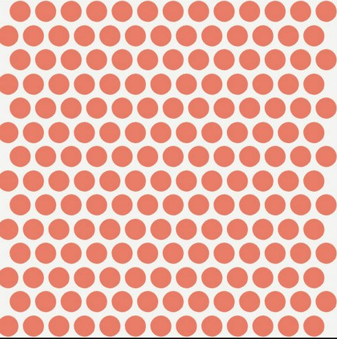 Dottie -birch fabrics Cream/coral
