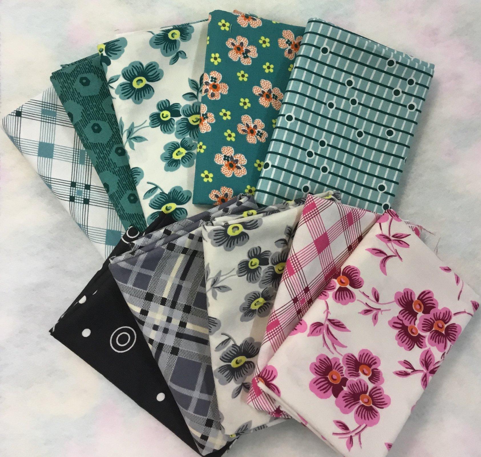 Denyse Schmidt Fabric Bundle -Washington Depot Fat 8ths x 10