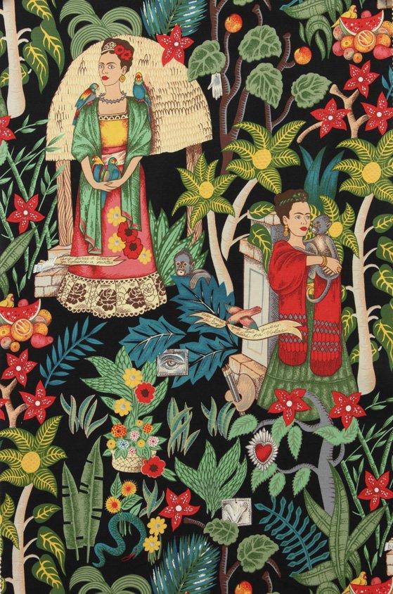 Frida's Garden - Black - 6752BR