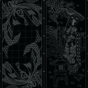 Wagara Panel - Noshi Gift & Maiko Bloom