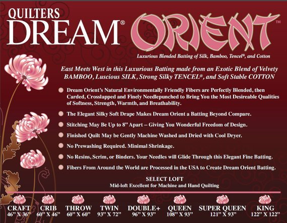Quilters Dream Wadding - Orient - Queen Size