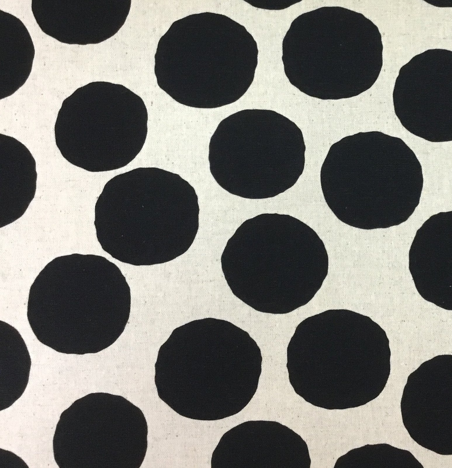 Large Black Dots on Linen - AP91908-1A