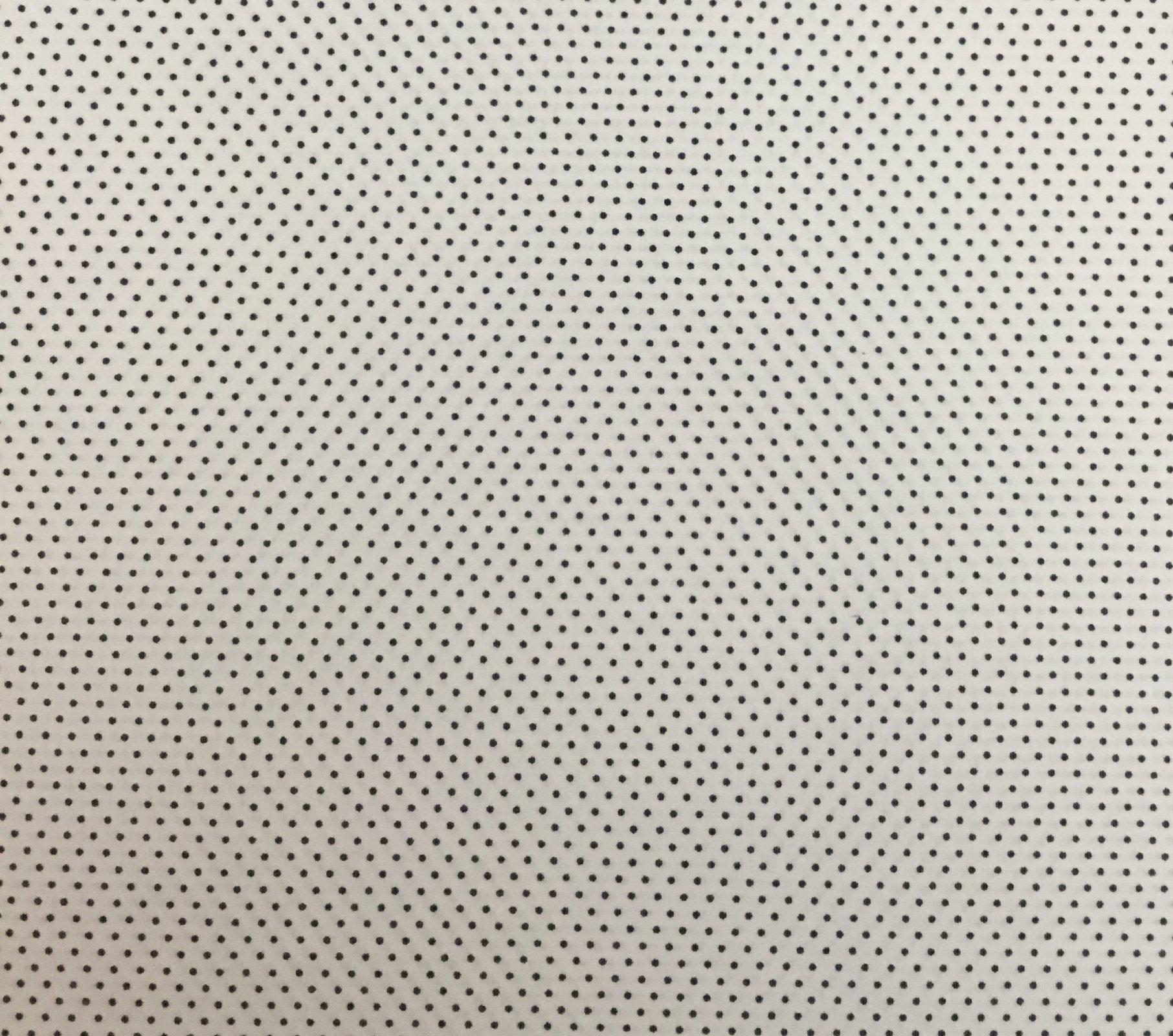 Adaman Coast - Monsoon Season - Dark Grey microdot on White
