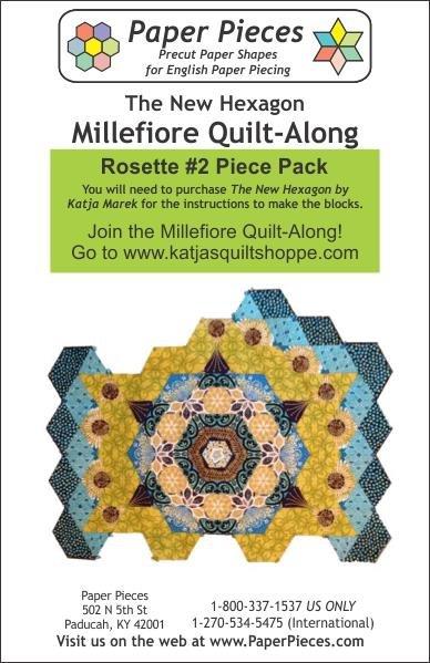 The New Hexagon - Millefiore Quilt Along - Rosette 2
