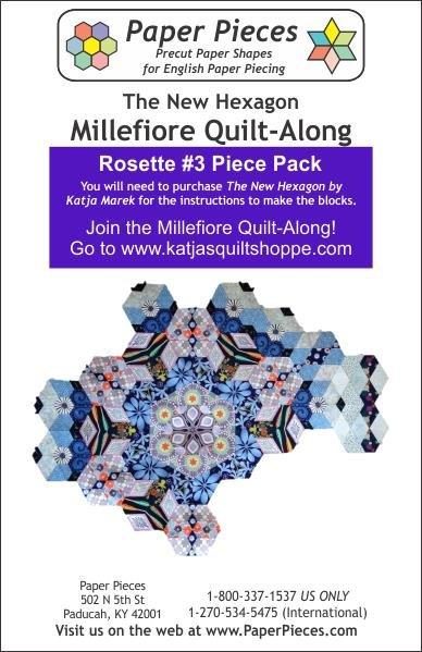 The New Hexagon - Millefiore Quilt Along - Rosette 3