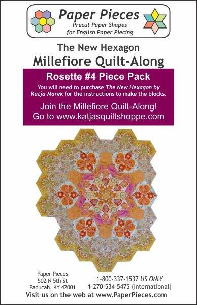 The New Hexagon - Millefiore Quilt Along - Rosette 4