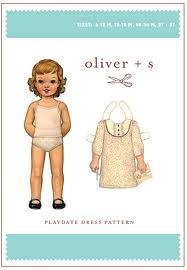 Oliver + S Playdate Dress Pattern Size 6mths to 3yrs