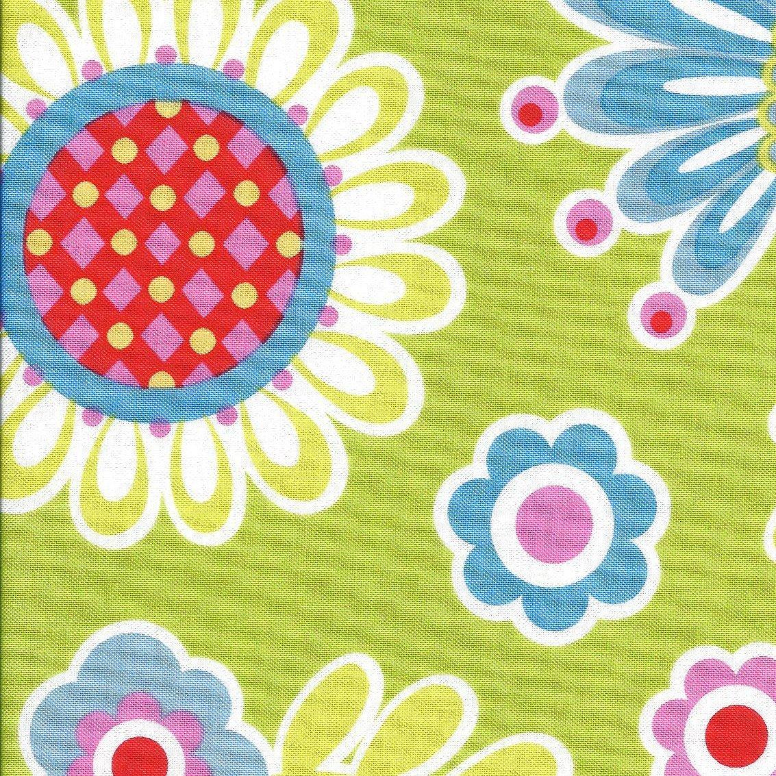 Michael Miller Bouquet De Fleurs Lime