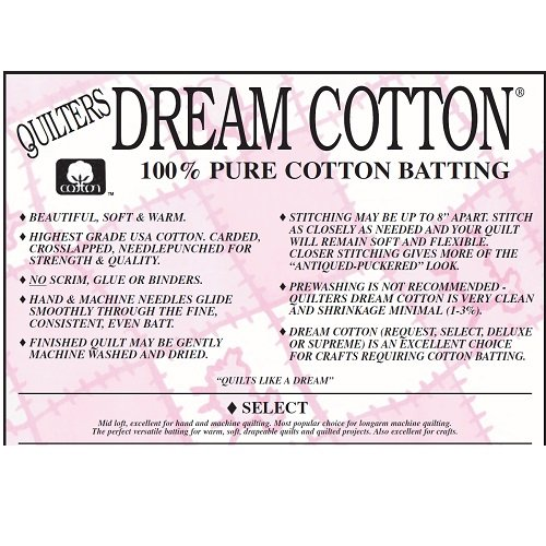 Quilters Dream Wadding - Double - Select - Natural