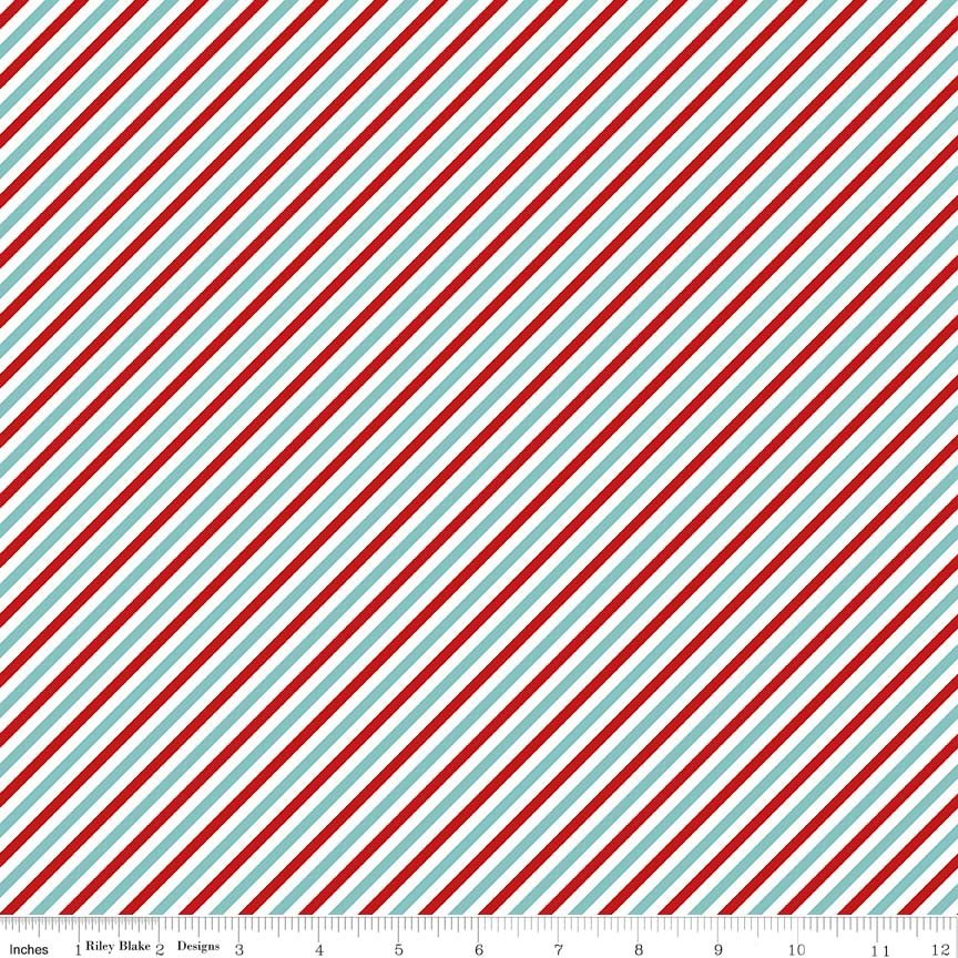 Pixie Noel Stripe C5256 - Red